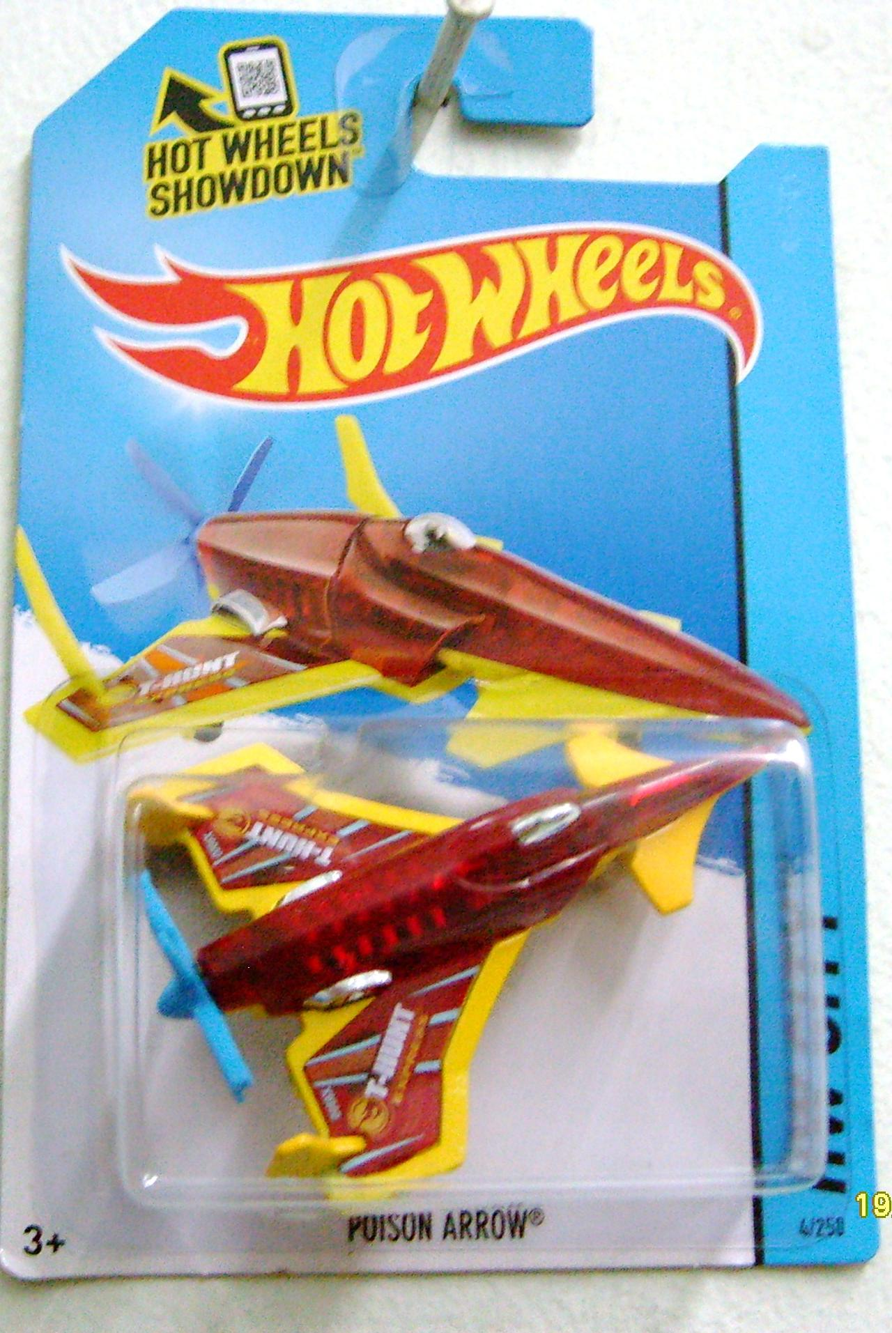 "Poison Arrow Translucent Red Blue and Orange Stripes, ""T-Hunt Express ..."