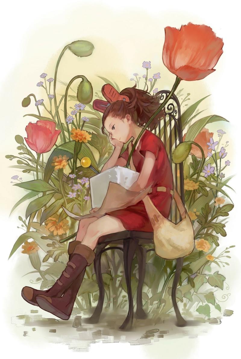 Hiyokoi Wallpaper Flowers_artwork_anime_...