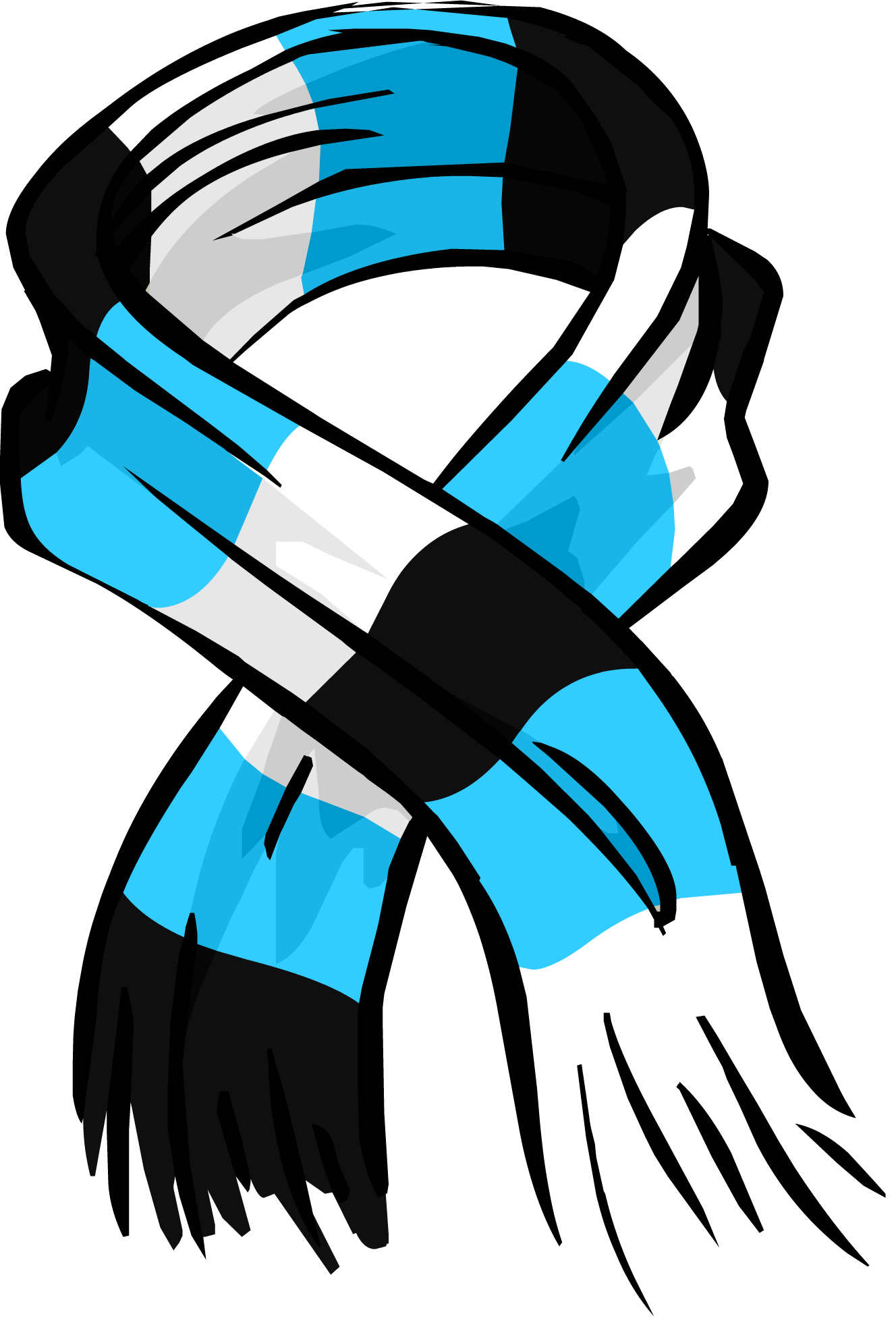 Blue Striped Scarf Id 3035 Club Penguin Wiki The