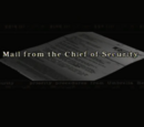 Mail from the Chief of Security