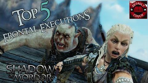 Top 5 Frontal Executions of Orcs + Photo Mode Executions - Shadow Of Mordor (PS4)