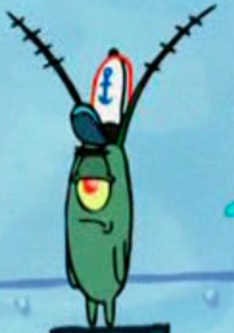 Krusty Krab Hat Drawing Plankton With Krusty Krab Hat