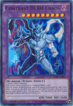 Contrast Hero Chaos Yu Gi Oh It S Time To Duel
