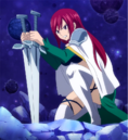 Erza struggles against the beast.png