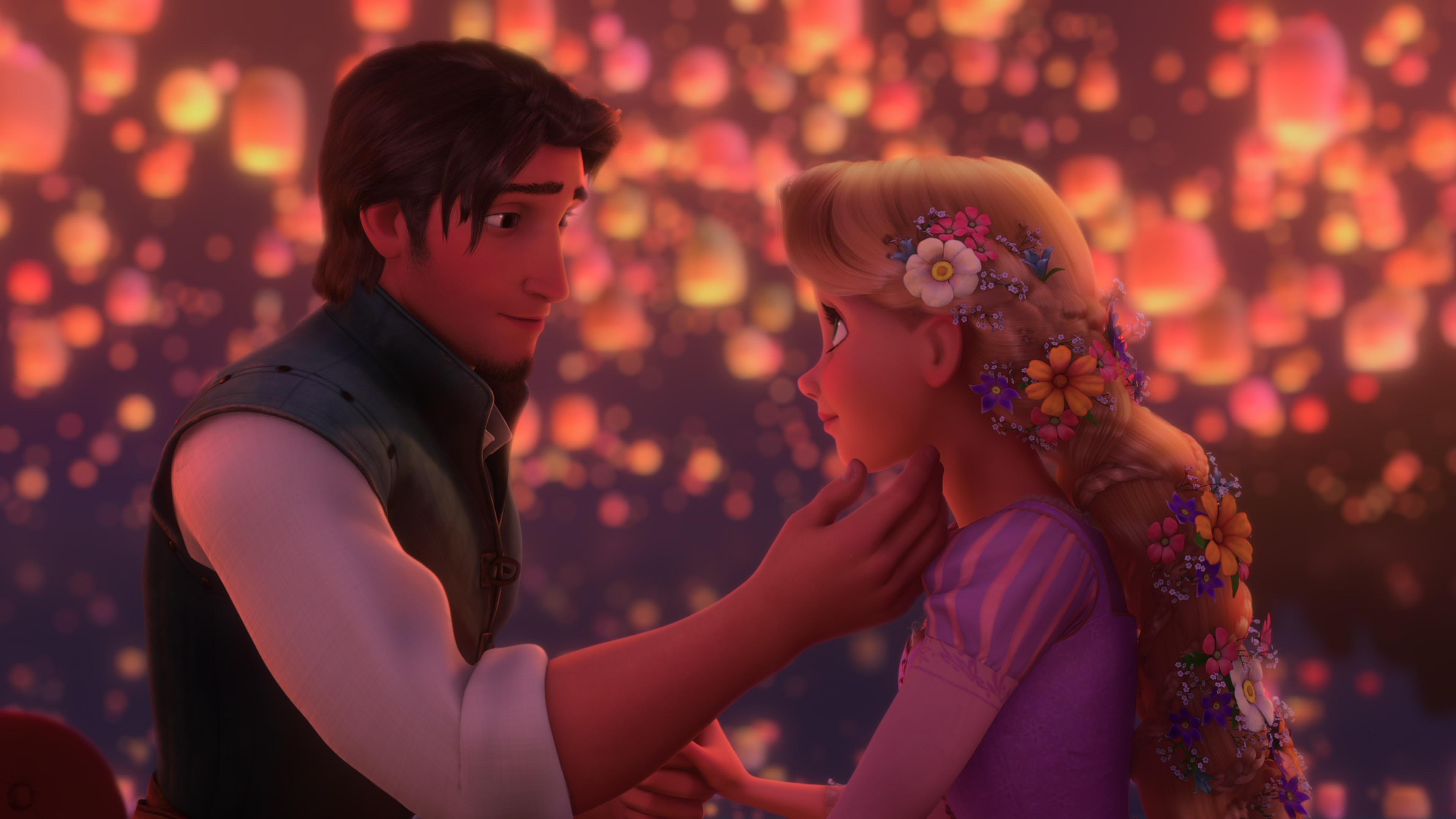 Rapunzel And Eugene Wallpaper Eugene And Rapunzel During i