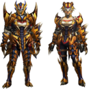 MH4U-Tigrex Rare Relic Armor (Gunner) Render 001.png