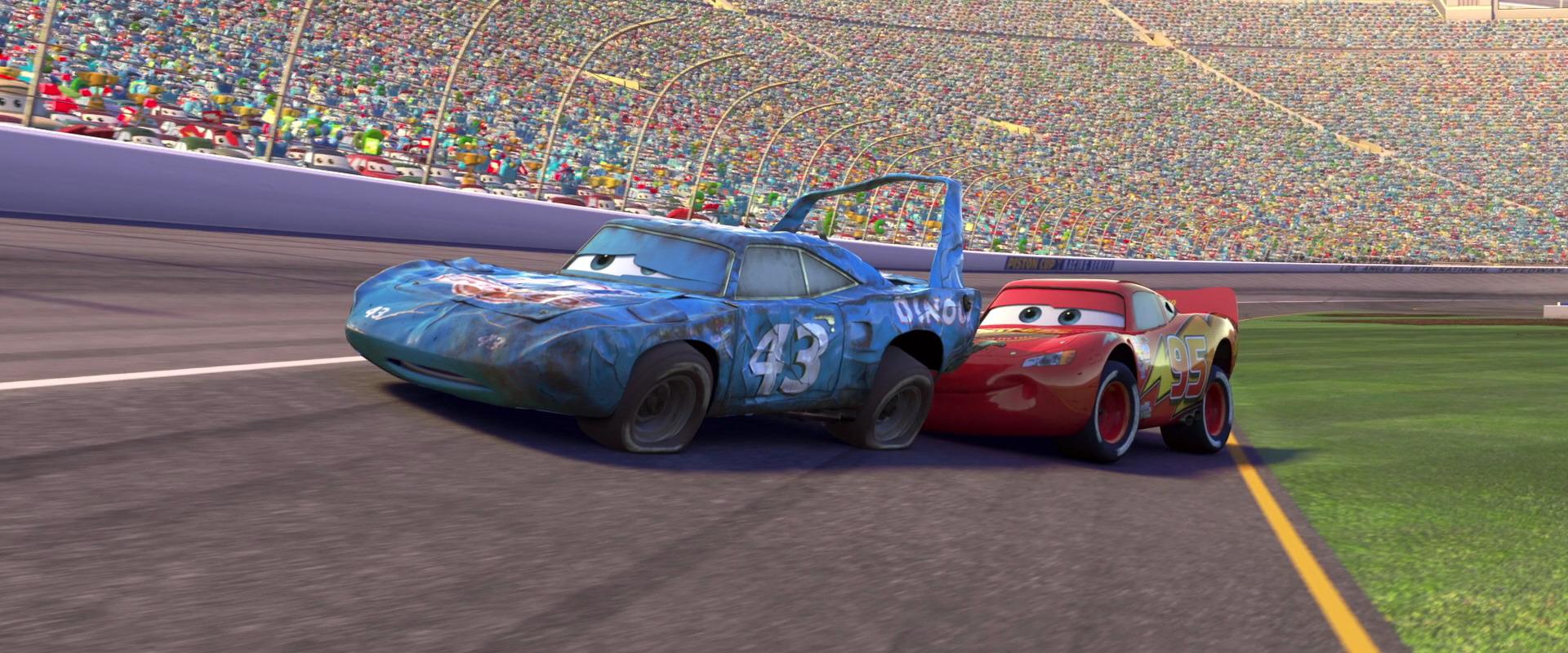 Cars The King Crash Scene