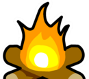 Bonfire pin