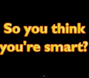 So you think you're smart ?