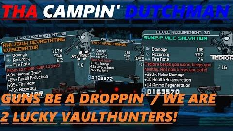 Borderlands Guns be a droppin' we are 2 lucky Vaulthunters! (Let's play 57)