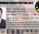 MARVEL COMICS: MCU bio Super-human Registration Act