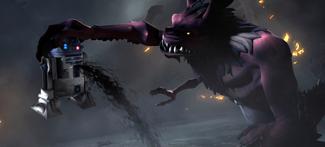 Gundark grabs Artoo
