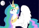 Celestia looking at the moon by Pingwinek123.PNG