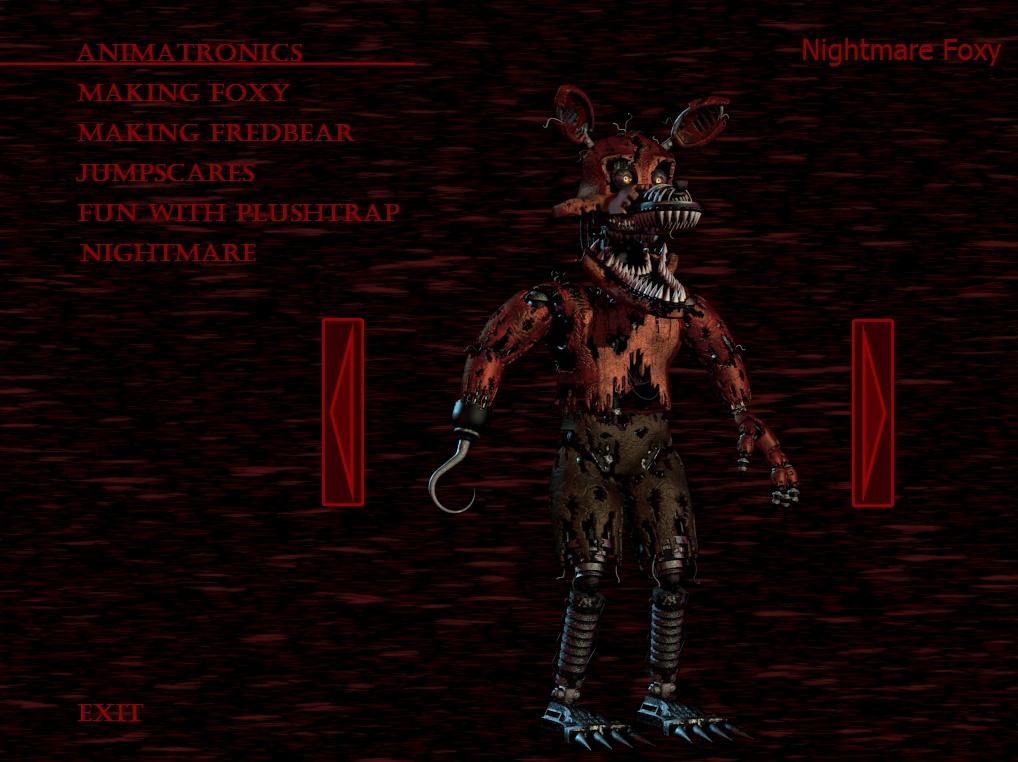 Nightmare foxy fnaf 4 minecraft skin