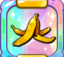 Slippery Golden Banana Peel