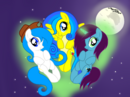 Friends on night sky by AgnessAngel.png