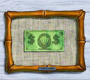Images of Mr. Krabs' First Dollar