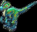 Green Dilophosaurus