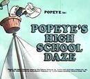 Popeye's High School Daze