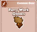 Furry Work Gloves