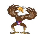 Gyrating American Eagle