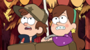 S1e1 Mabel and Dipper checking.png