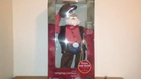 "Gemmy Animated ""Singing Cowboy Santa"" (Rawhide Santa)"