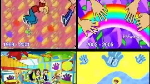 Hi-5 Theme song animation through the years 1999-2011-0