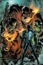 Eugene Thompson (Earth-616) and the Monsters of Evil (Earth-616) from Venom Vol 2 25 001.jpg