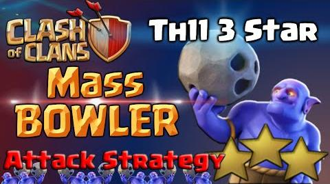 Clash of Clans Bowler Attack Strategy TH11 - Mass Bowlers 3 Star War Raid in CoC