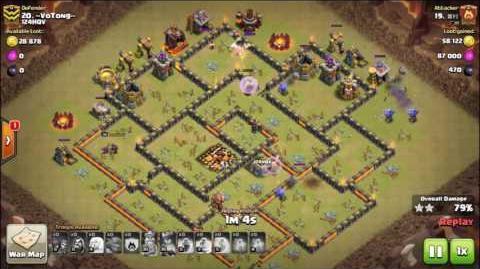 Clash of Clans - Bowler Attack ! TH10 Attack strategy 7