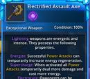 Electrified Assault Axe