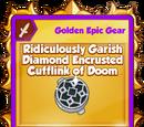 Ridiculously Garish Diamond Encrusted Cufflink of Doom