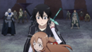 Asuna and other players about to be paralysed by Heathcliff.png