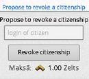 Ierosināt atcelt pilsonību