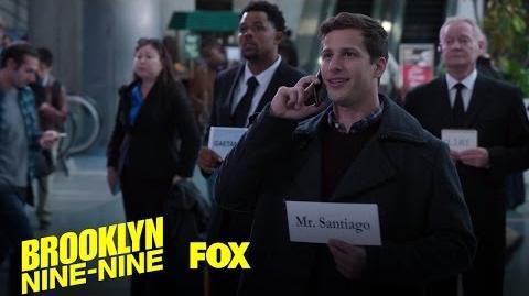 Jake Waits For Amy's Dad At The Airport Season 4 Ep. 7 BROOKLYN NINE-NINE