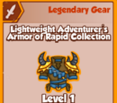Lightweight Adventurer's Armor of Rapid Collection (Legendary)