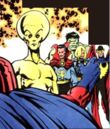 Alpha, Bruce Banner, Brunnhilde, Defenders, Kyle Richmond, Max Eisenhardt, Stephen Strange (Earth-616) from X-Men Unlimited 24.jpg