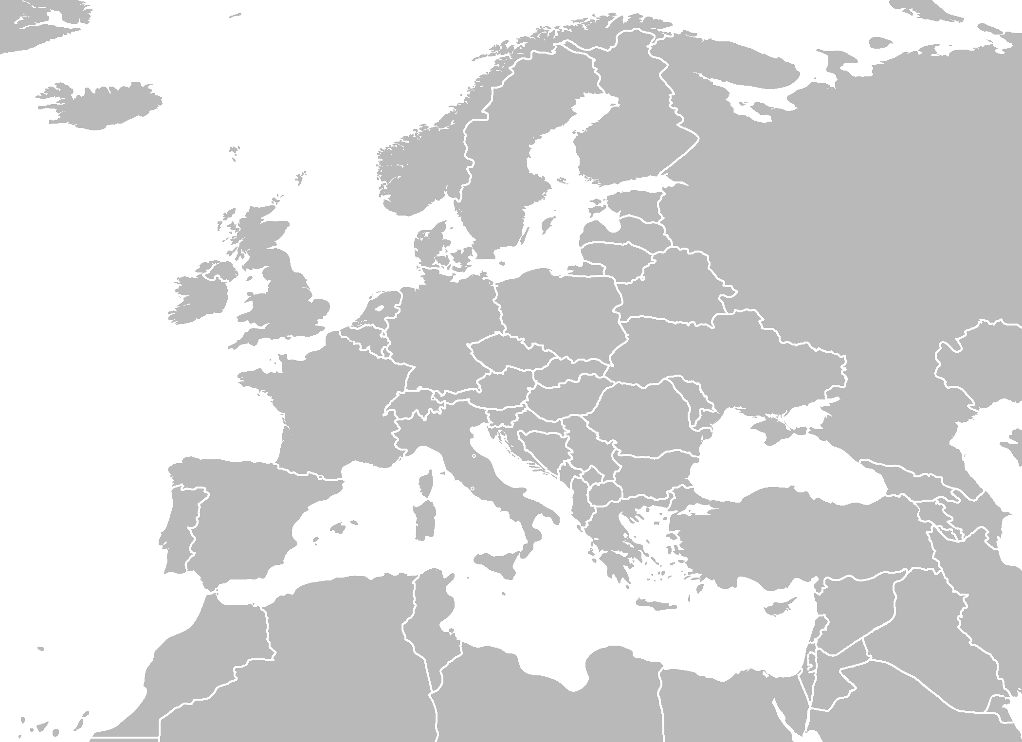 MAP OF EUROPE NORTH AFRICA – mapofmap1